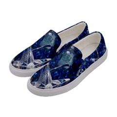 Christmas Silver Blue Star Ball Happy Kids Women s Canvas Slip Ons by Mariart