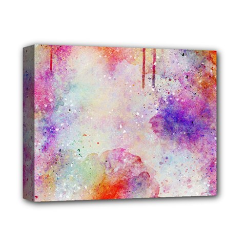 Watercolor Galaxy Purple Pattern Deluxe Canvas 14  X 11  by paulaoliveiradesign