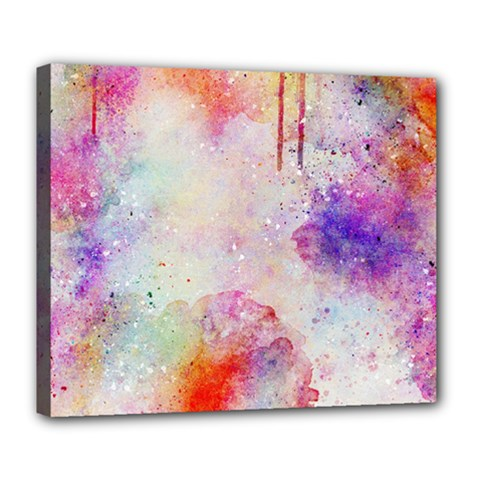 Watercolor Galaxy Purple Pattern Deluxe Canvas 24  X 20   by paulaoliveiradesign