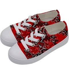 Wet Plastic, Red Kids  Low Top Canvas Sneakers by MoreColorsinLife
