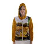African Fantasy Womens hooded windbreaker - Hooded Wind Breaker (Women)