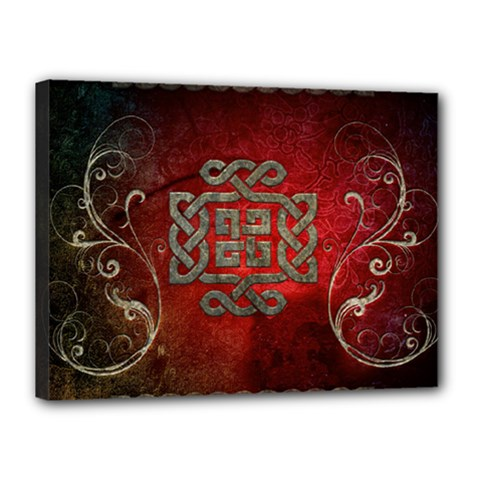 The Celtic Knot With Floral Elements Canvas 16  X 12  by FantasyWorld7