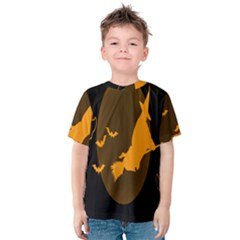 Day Hallowiin Ghost Bat Cobwebs Full Moon Spider Kids  Cotton Tee by Mariart
