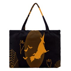 Day Hallowiin Ghost Bat Cobwebs Full Moon Spider Medium Tote Bag by Mariart