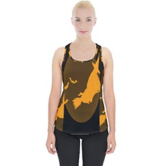 Day Hallowiin Ghost Bat Cobwebs Full Moon Spider Piece Up Tank Top by Mariart
