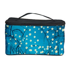 Flower Back Leaf River Blue Star Cosmetic Storage Case by Mariart