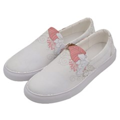 Flower Floral Rose Sunflower Star Sexy Pink Men s Canvas Slip Ons by Mariart