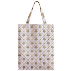 Flower Leaf Gold Zipper Classic Tote Bag by Mariart