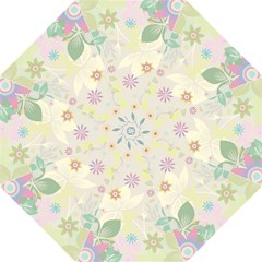 Flower Rainbow Star Floral Sexy Purple Green Yellow White Rose Straight Umbrellas by Mariart