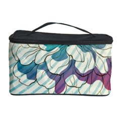 Flower Rose Purple Sunflower Lotus Cosmetic Storage Case by Mariart
