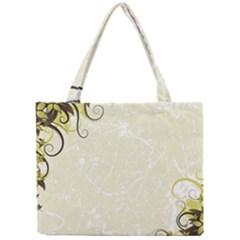 Flower Star Floral Green Camuflage Leaf Frame Mini Tote Bag by Mariart