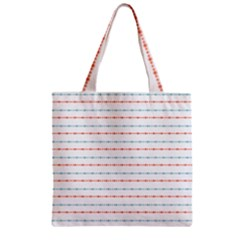 Line Polka Dots Blue Red Sexy Zipper Grocery Tote Bag by Mariart