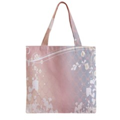 Love Heart Flower Purple Sexy Rose Zipper Grocery Tote Bag by Mariart