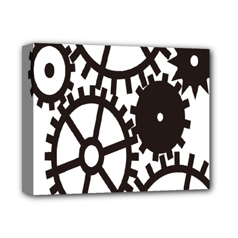 Machine Iron Maintenance Deluxe Canvas 14  X 11  by Mariart