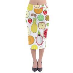 Mango Fruit Pieces Watermelon Dragon Passion Fruit Apple Strawberry Pineapple Melon Midi Pencil Skirt by Mariart
