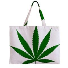 Marijuana Weed Drugs Neon Cannabis Green Leaf Sign Mini Tote Bag by Mariart