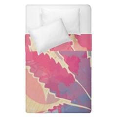 Marijuana Heart Cannabis Rainbow Pink Cloud Duvet Cover Double Side (single Size) by Mariart