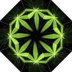 Marijuana Weed Drugs Neon Green Black Light Straight Umbrellas by Mariart