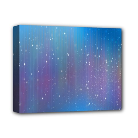 Rain Star Planet Galaxy Blue Sky Purple Blue Deluxe Canvas 14  X 11  by Mariart