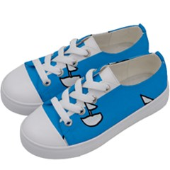Ship Sea Beack Sun Blue Sky White Water Kids  Low Top Canvas Sneakers by Mariart