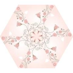Simple Flower Polka Dots Pink Mini Folding Umbrellas by Mariart