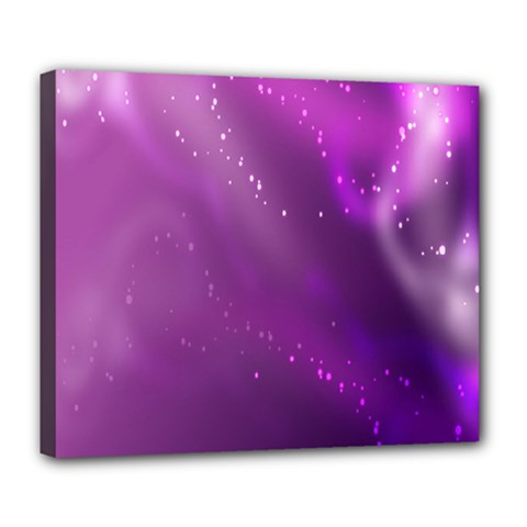Space Star Planet Galaxy Purple Deluxe Canvas 24  X 20   by Mariart