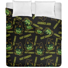 Pattern Halloween Witch Got Candy? Icreate Duvet Cover Double Side (california King Size) by iCreate