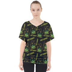 Pattern Halloween Witch Got Candy? Icreate V Neck Dolman Drape Top by iCreate