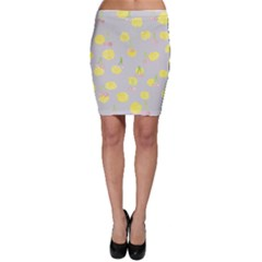 Cute Fruit Cerry Yellow Green Pink Bodycon Skirt by Mariart