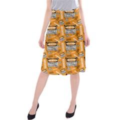 Halloween Thirsty Vampire Signs Midi Beach Skirt