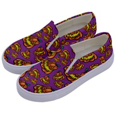 Halloween Colorful Jackolanterns  Kids  Canvas Slip Ons by iCreate