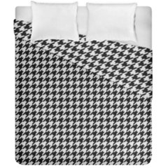Friendly Houndstooth Pattern,black And White Duvet Cover Double Side (california King Size) by MoreColorsinLife