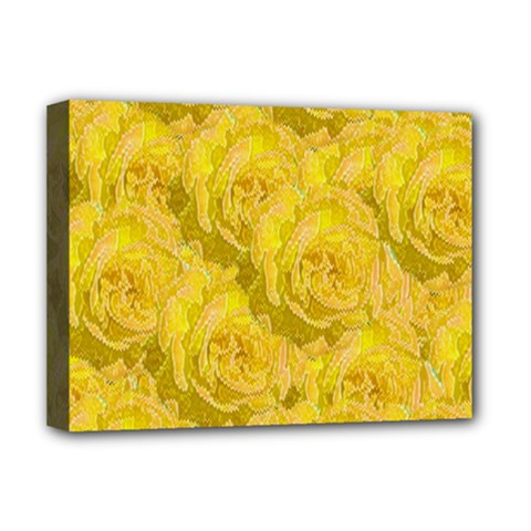 Summer Yellow Roses Dancing In The Season Deluxe Canvas 16  X 12   by pepitasart