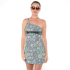 Cactus Pattern Green  One Soulder Bodycon Dress by Mishacat