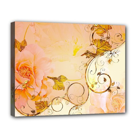 Wonderful Floral Design In Soft Colors Canvas 14  X 11  by FantasyWorld7