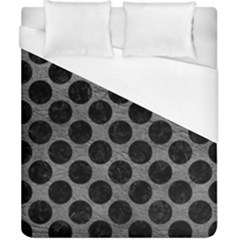 Circles2 Black Marble & Gray Leather (r) Duvet Cover (california King Size)