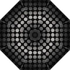 Circles1 Black Marble & Gray Metal 1 Hook Handle Umbrellas (large) by trendistuff