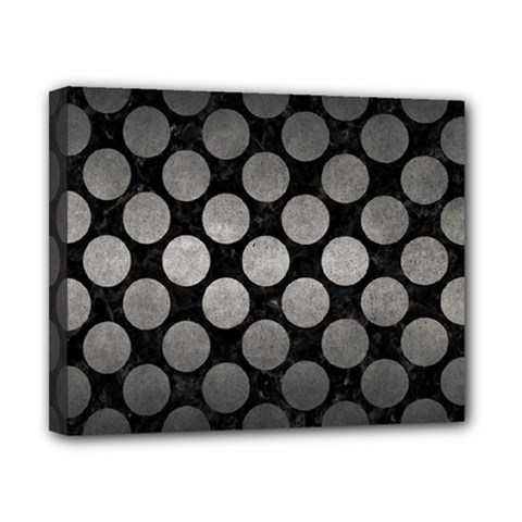 Circles2 Black Marble & Gray Metal 1 Canvas 10  X 8  by trendistuff