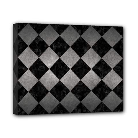 Square2 Black Marble & Gray Metal 1 Canvas 10  X 8  by trendistuff