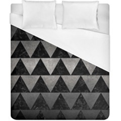 Triangle2 Black Marble & Gray Metal 1 Duvet Cover (california King Size) by trendistuff