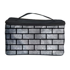 Brick1 Black Marble & Gray Metal 2 (r) Cosmetic Storage Case by trendistuff