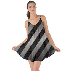 Stripes3 Black Marble & Gray Metal 1 Love The Sun Cover Up