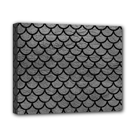 Scales1 Black Marble & Gray Leather (r) Canvas 10  X 8  by trendistuff