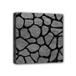 SKIN1 BLACK MARBLE & GRAY LEATHER Mini Canvas 4  x 4