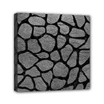 SKIN1 BLACK MARBLE & GRAY LEATHER Mini Canvas 6  x 6