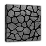 SKIN1 BLACK MARBLE & GRAY LEATHER Mini Canvas 8  x 8