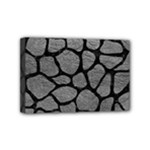 SKIN1 BLACK MARBLE & GRAY LEATHER Mini Canvas 6  x 4