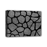 SKIN1 BLACK MARBLE & GRAY LEATHER Mini Canvas 7  x 5