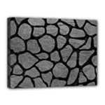 SKIN1 BLACK MARBLE & GRAY LEATHER Canvas 16  x 12