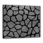 SKIN1 BLACK MARBLE & GRAY LEATHER Canvas 24  x 20